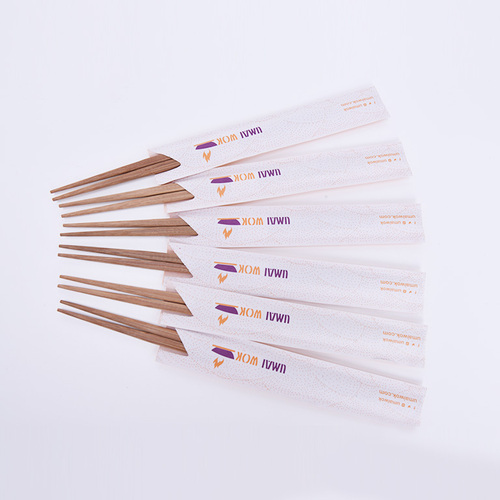 Carbonized Egg Chopsticks with customized paper sleeve